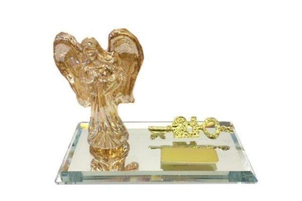 TK1062 GOLD ANGEL ON MIRROR BASE