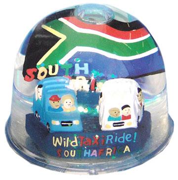 FG3551 Wild Taxi Ride Water Globe