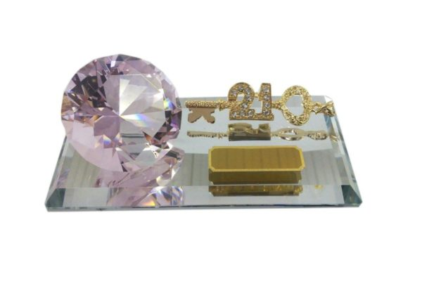 TK993 LARGE PINK DIAMOND